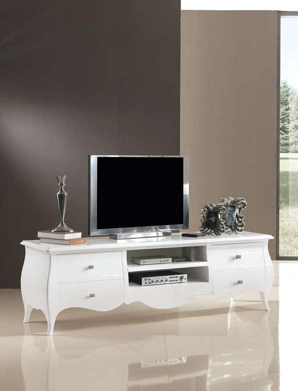 Muebles tv blancos for Muebles tv originales