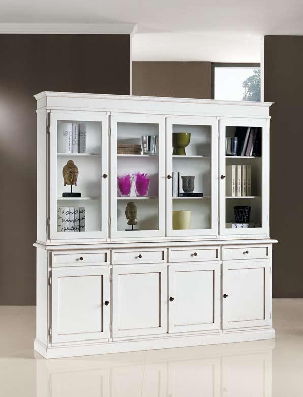 Comodas modernas blancas for Librerias salon baratas