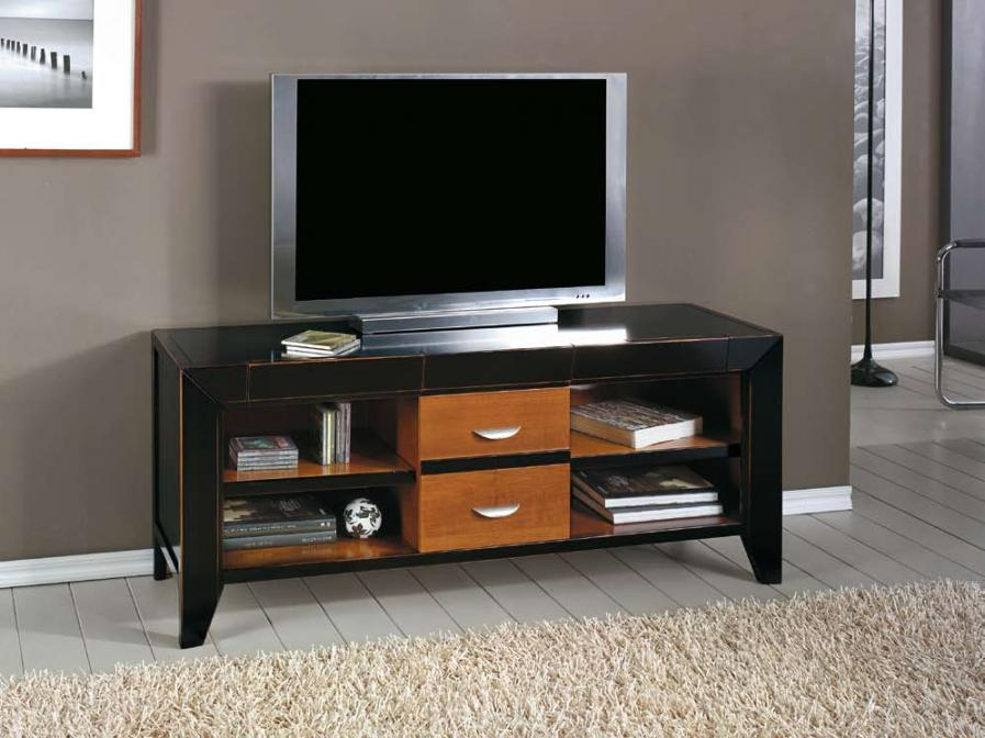 Muebles tv color negro for Colores de muebles modernos