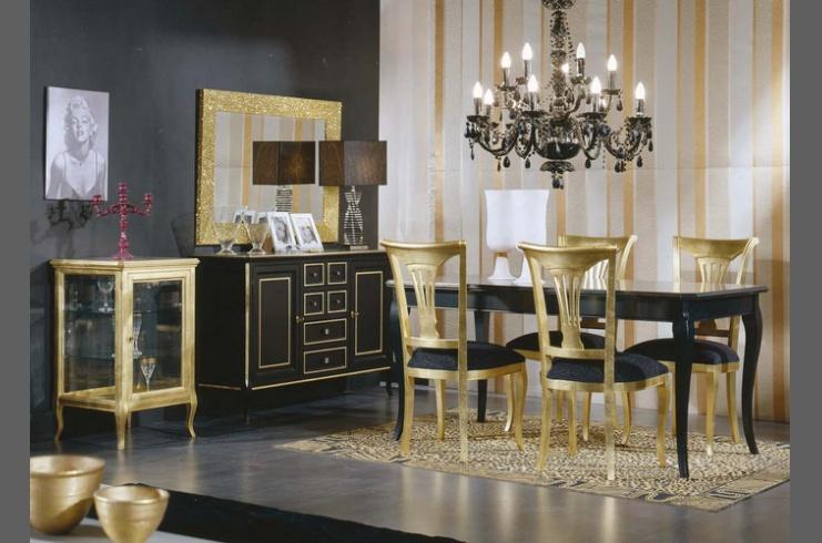 Mesas doradas - Diseno de salon comedor ...